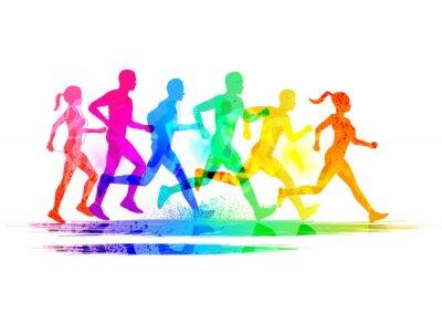 Fototapet Grupp löpare