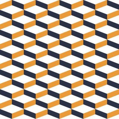 Fototapet Gul geometrisk illusion Seamless