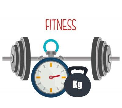 Fototapet Gym och fitness livsstil