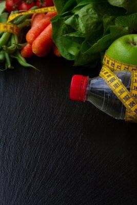 Fototapet Hälsosam mat på bordet