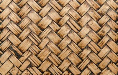 Fototapet handcraft bambu väva textur för bakgrund