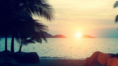 Fototapet Härligt tropiskt havskust.