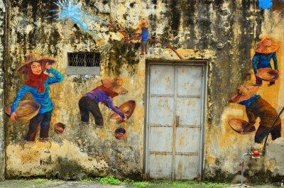 Fototapet Heritage of Ipoh, Malaysia - Ipoh är en stad i Malaysia, ungefär 200 km norr om Kuala Lumpur ..