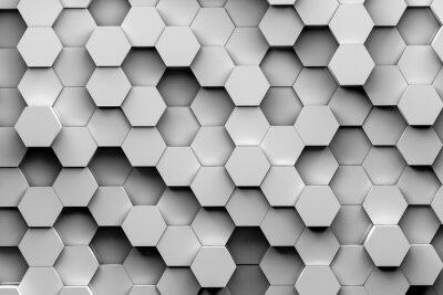 Fototapet Hexagon bakgrund 3d illustration