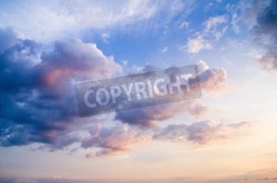 Fototapet himmel med moln och sol