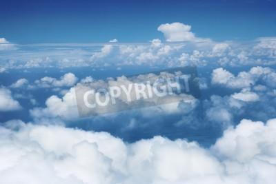 Fototapet Himmel och moln från flygande flygplan