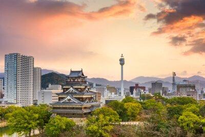 Fototapet Hiroshima Japan stadsbild