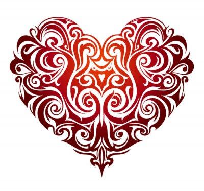 Fototapet Hjärta form prydnad