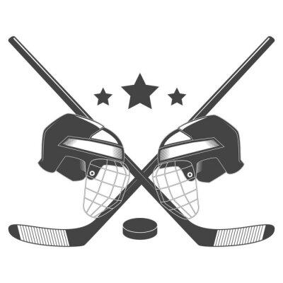 Fototapet Hockey konkurrens chempionship vektor logotyp