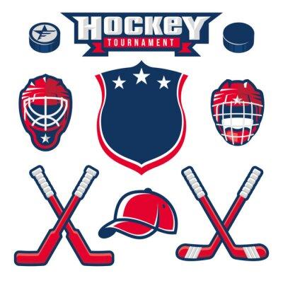Fototapet Hockey logo, emblem, etikett, emblem designelement