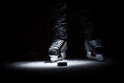 Fototapet Hockeyspelare. Benen bara visa