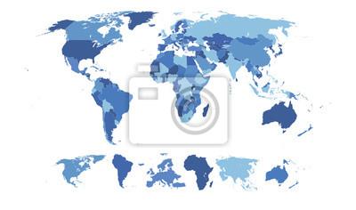 Fototapet Hög Detaljerad World Map