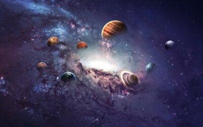 Fototapet Högupplösta bilder presenterar skapa planeter i solsystemet. Denna bildelement som tillhandahålls av NASA