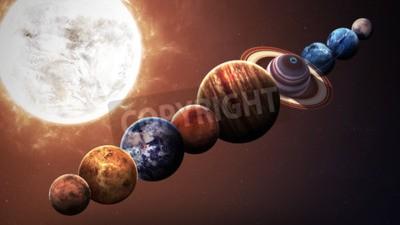 Fototapet Höjd kvalitet solsystemet planeter. Delar av denna bild som tillhandahålls av NASA