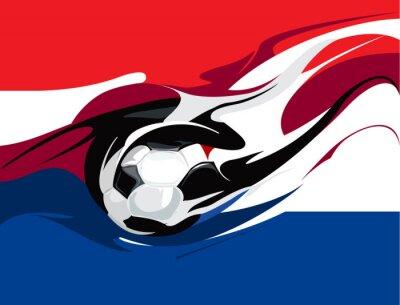 Fototapet Holländsk fotboll