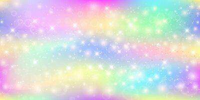 Fototapet Holografisk magisk bakgrund med fairy sparkles, stjärnor och blurs.