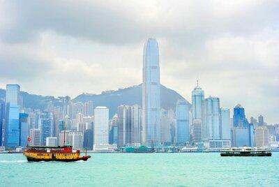 Fototapet Hong Kong färja