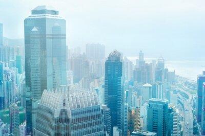 Fototapet Hong Kong företagscenter
