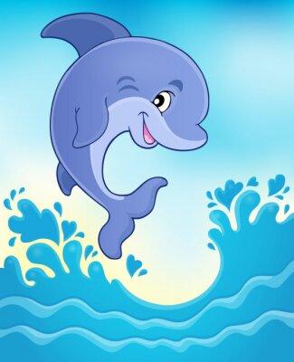 Fototapet Hoppning delfin tema bild 6