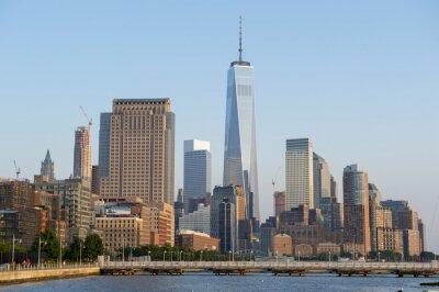 Fototapet Hudson River horisont utsikt över Downtown Manhattan New York