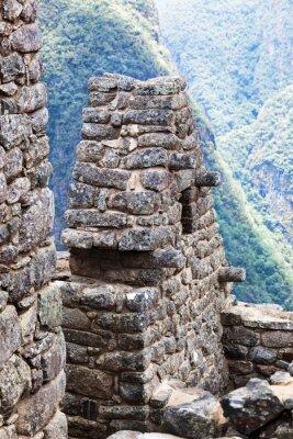 Fototapet hus i staden Machu Picchu