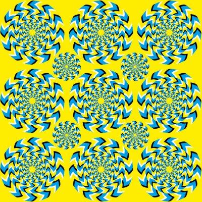 Fototapet Hypnotiska rotations