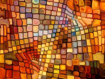 Fototapet Illusion av målat glas