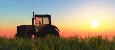 Fototapet illustration av en traktor som cirkulerar