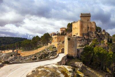 Fototapet imponerande medeltida slott Alarcon, Spanien