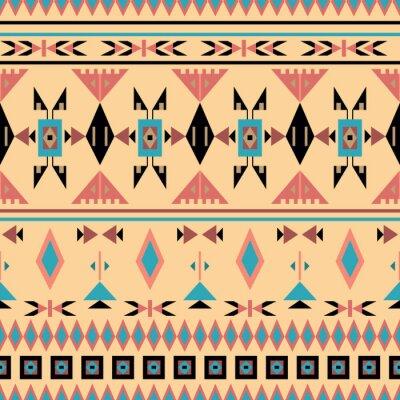 Fototapet Indianer, sömlösa mönster, vektor illustration