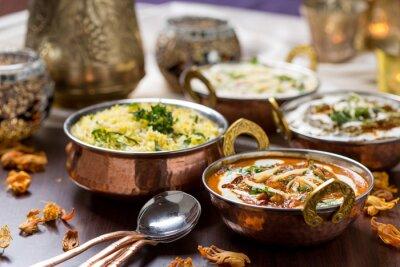 Fototapet indisk mat