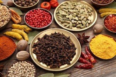 Fototapet Indiska kryddor.