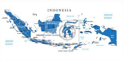 Fototapet Indonesien Karta