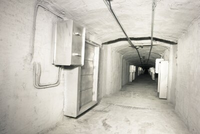 Fototapet industriell inre vantilation systemet tunnel
