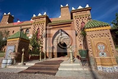 Fototapet Ingången till en Riad Iin Marocko