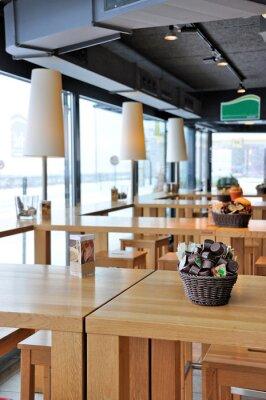 Fototapet Interiör från ett trendigt café