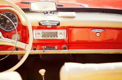 Fototapet interno auto tappning