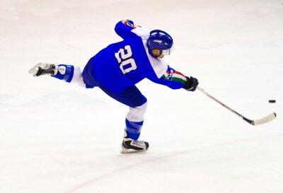 Fototapet ishockeyspelare