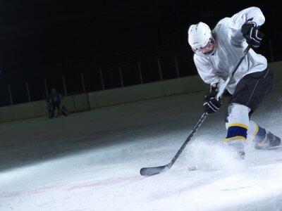 Fototapet ishockeyspelare i aktion