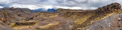 Fototapet Island Landmannalaugar vandringen vilda landskapet
