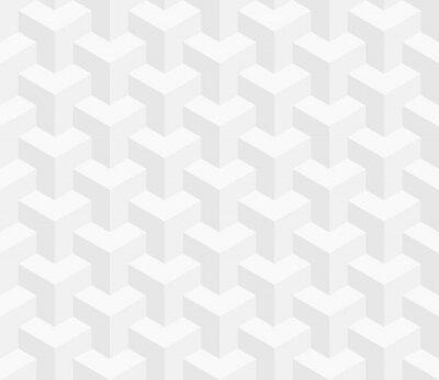 Fototapet Isometrisk Seamless. 3D optisk illusion bakgrund.