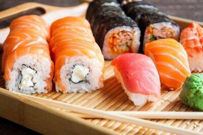 Fototapet Japansk sushi uppsättning