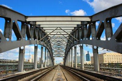 Fototapet Järnvägsbron i Moskva