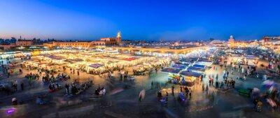 Fototapet Jemaa El Fnaa, Marrakech