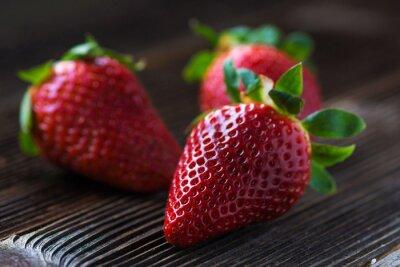 Fototapet jordgubbar