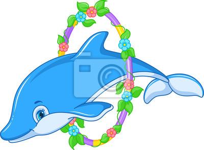 Fototapet Jumping Dolphin