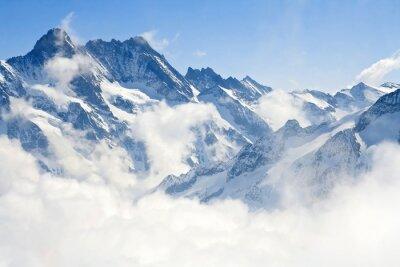Fototapet Jungfraujoch Alperna fjällandskap