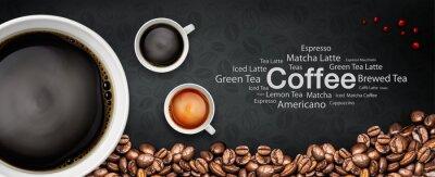Fototapet kaffe backgrond