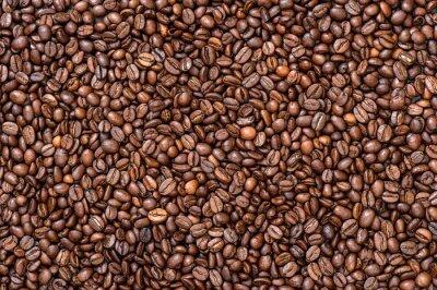 Fototapet Kaffe bakgrund konsistens. bruna bönor