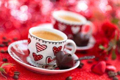 Fototapet Kaffe för alla hjärtans dag.